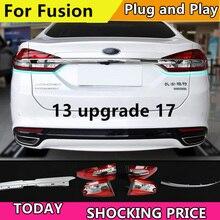 Estilo do carro luz da cauda caso para ford fusion lanternas traseiras 2013 atualizar 2017 led cauda lâmpada traseira drl + freio parque sinal luz