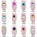 10pcs Glitter multiple-surface balls rhinestones for nails 12 colors 3d nail decoration DIY art accessories YHA52