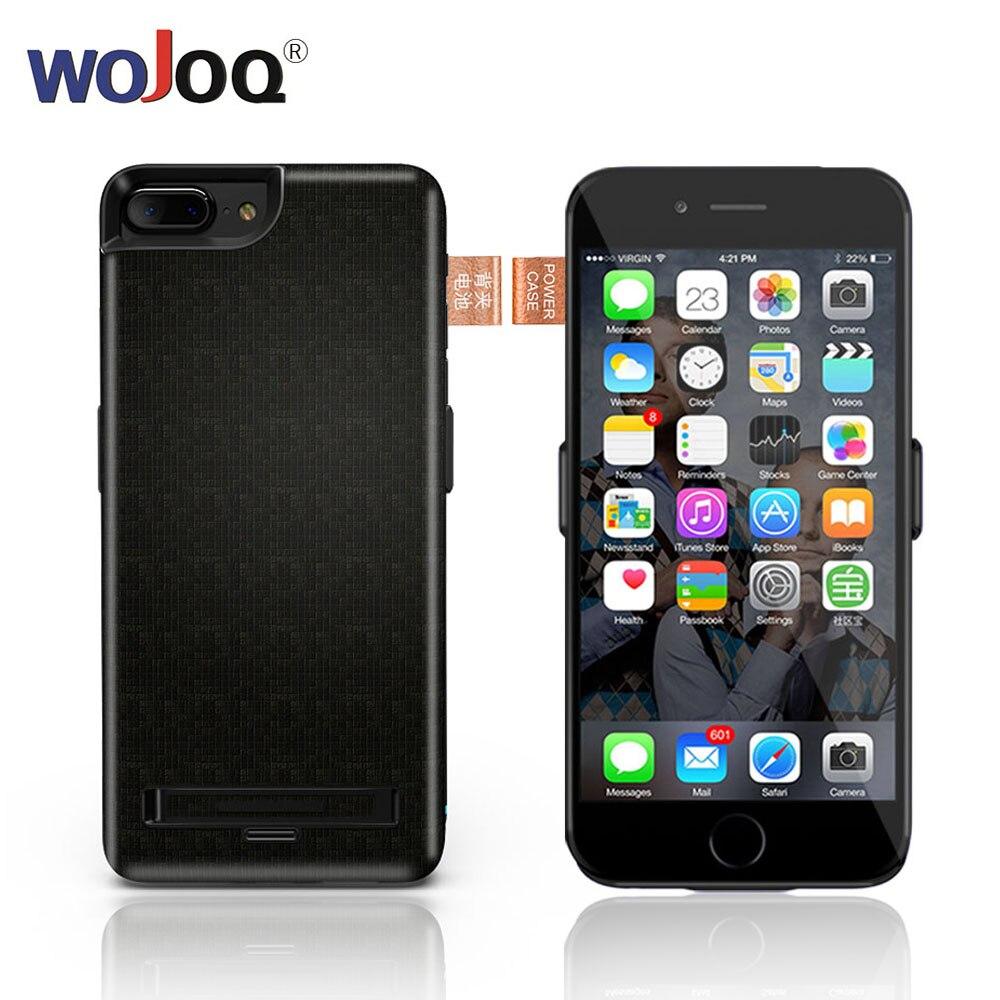 WOJOQ Batterie Chargeur Cas Pour iPhone 7 8 6 6 s Plus 5500/7500 mah Affaire de La Banque D'alimentation Externe pack Sauvegarde Charge De La Batterie Couverture