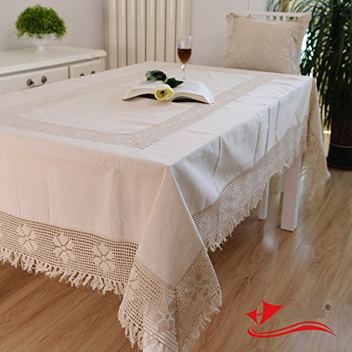 Cotton Linen Woven Lace Tablecloth Fashion North European Style Table Cloth Rectangular Crochet Tablecloth For Square
