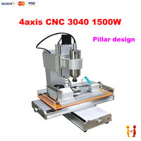 2017 Newest Pillar Type Cnc Router LY Cnc Milling Machine With Sink Mini Cnc Router 3040
