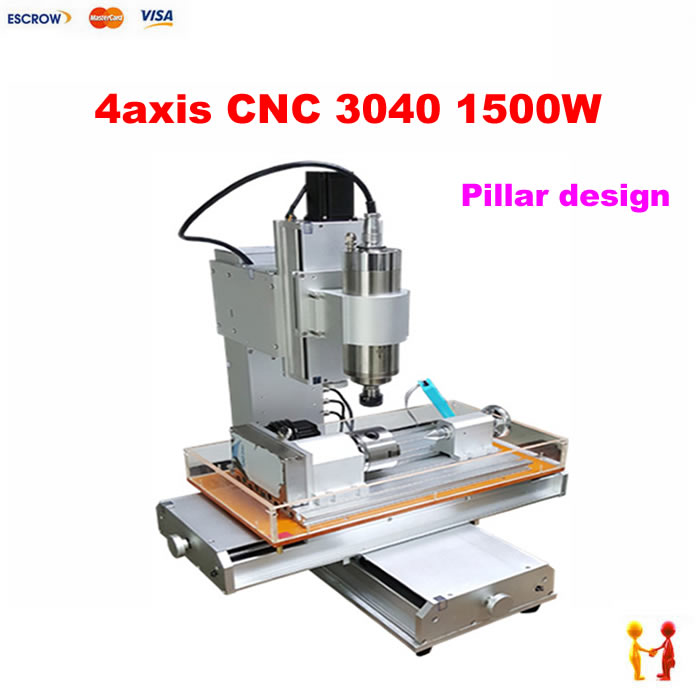 Pillar type cnc router 3040 LY cnc milling carving engraving Machine with sink eur free tax cnc 6040z frame of engraving and milling machine for diy cnc router