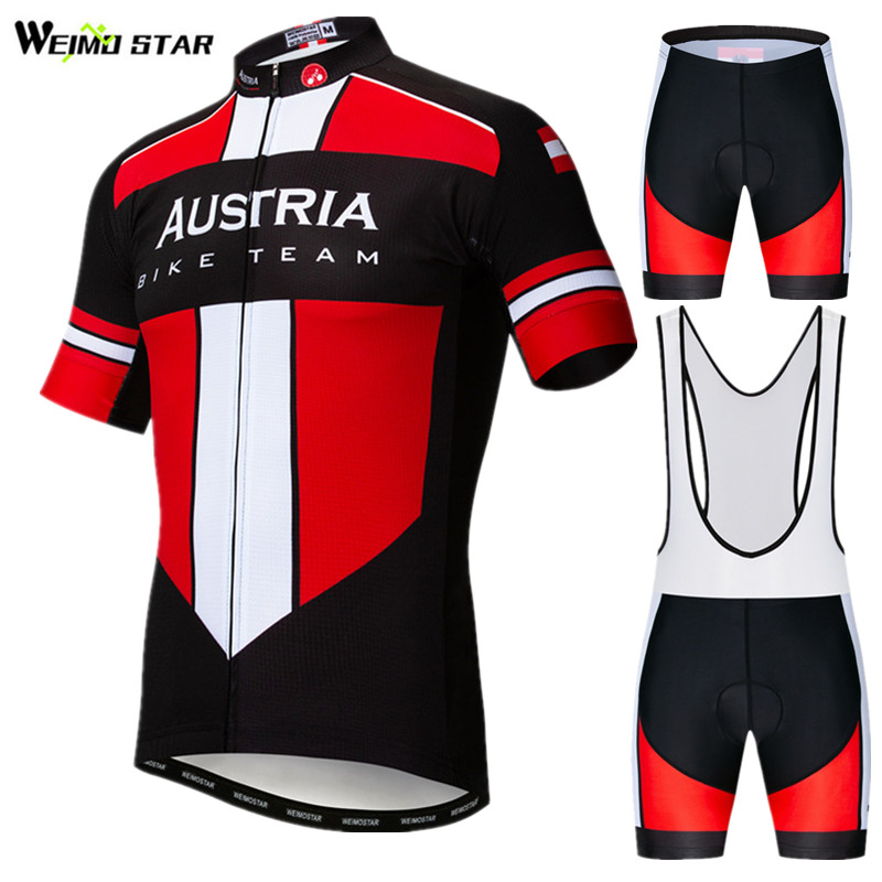 Weimostar Austria Bike Team Cycling Clothing Man Summer Cycling Jersey Set Short Sleeve Mountain Bicycle Clothing Ropa Ciclismo