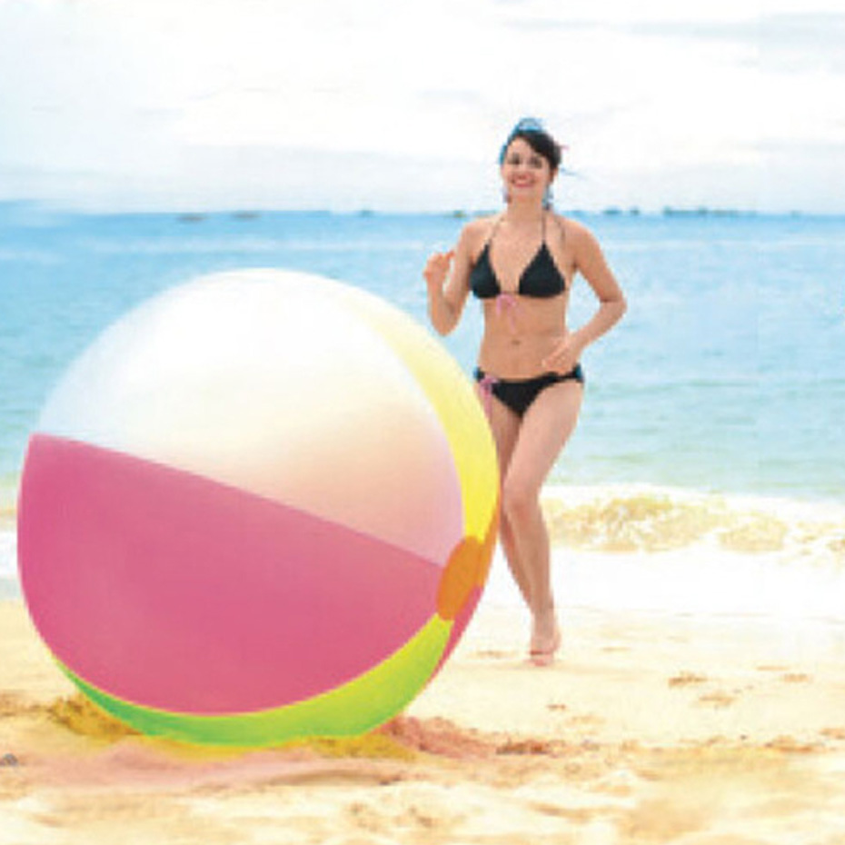 122CM 48inch Super Large Charm Colorful Inflatable Beach Ball Outdoor Play Games Balloon Giant Volleyball PVC Pool & Accessorie