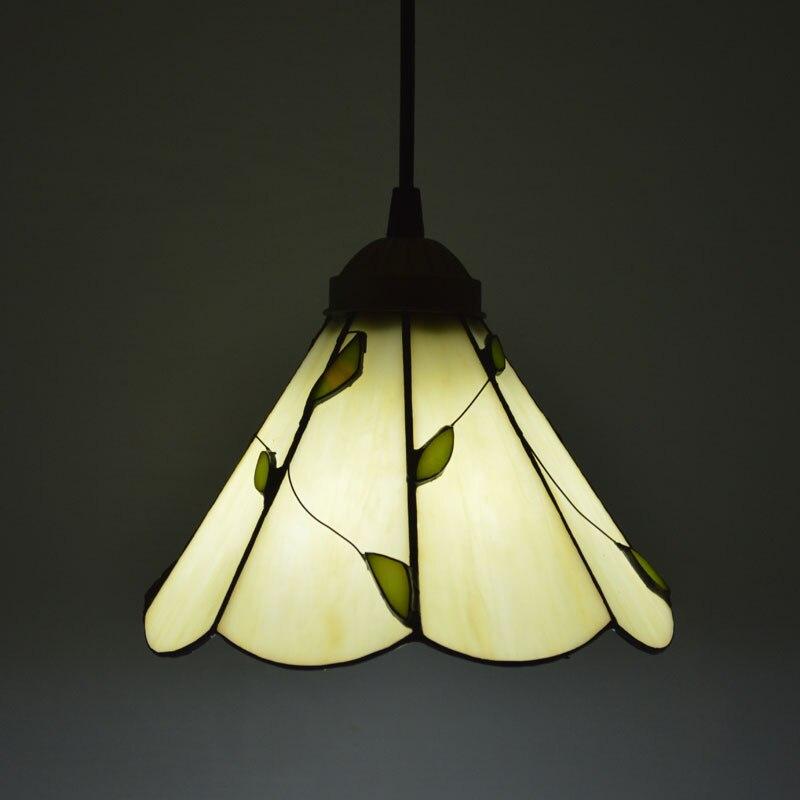 Tiffany Pendant Light American Country Style Leaves Pattern Cafe Restaurant E27 110-240V bask back country light