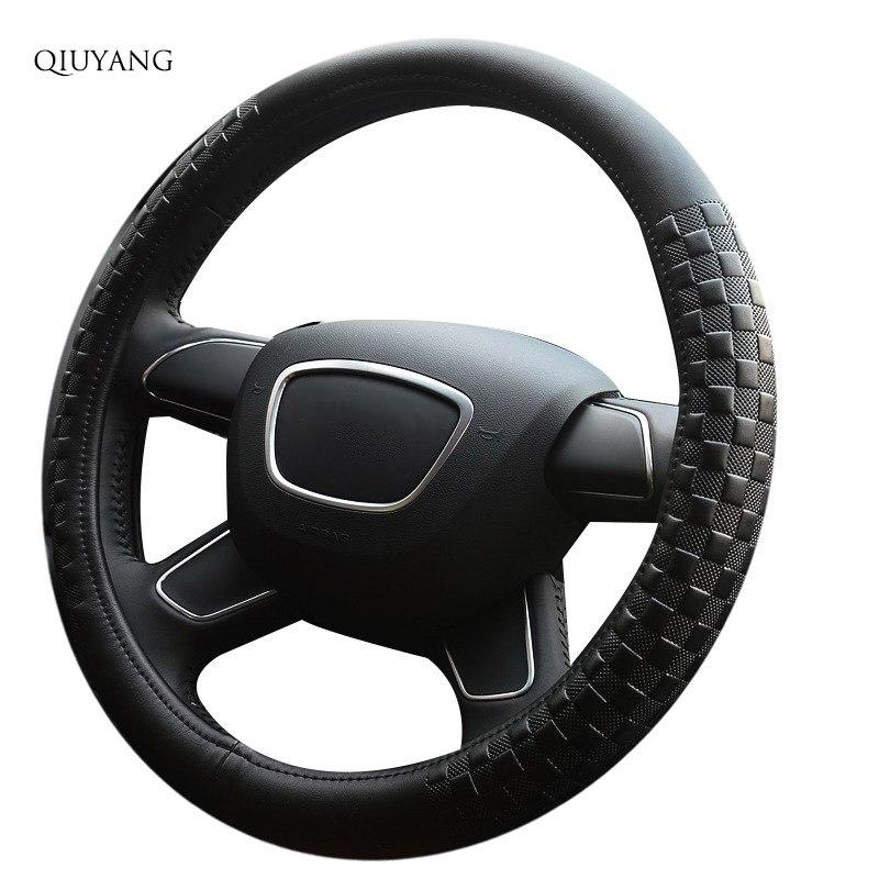 Pour Ford SAIL Sports cuir tressé guidon tresse pour XSARA VW CITY mignon Auto couvre-roue 38 cm/15 pouces mode antidérapant