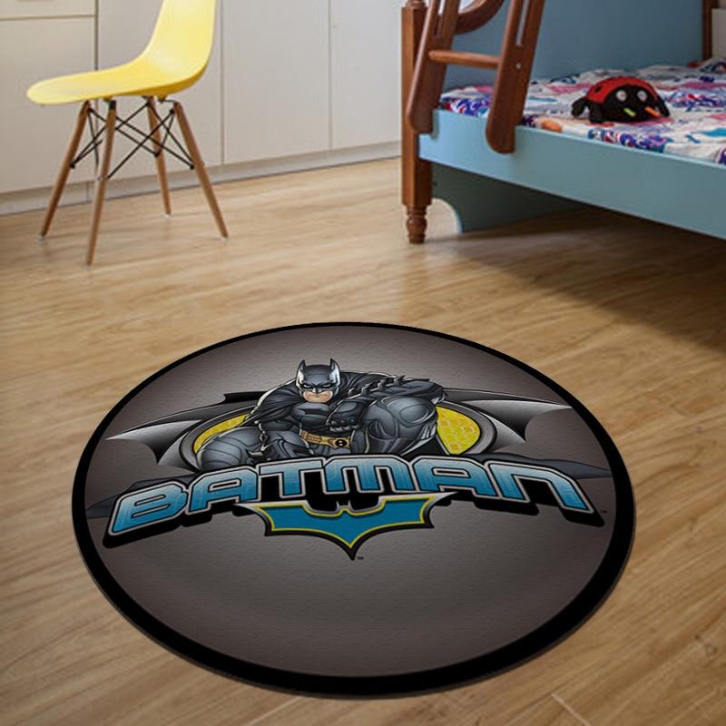 Delightful Batman Round Carpet Diameter 60/80/100/120/160CM Parlor Rugs Bathroom