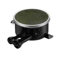 Double Tube Side Gas Inlet Gas Cooker Burner 110 200mm Enamelled Infrared Gas Ring Burner Brown