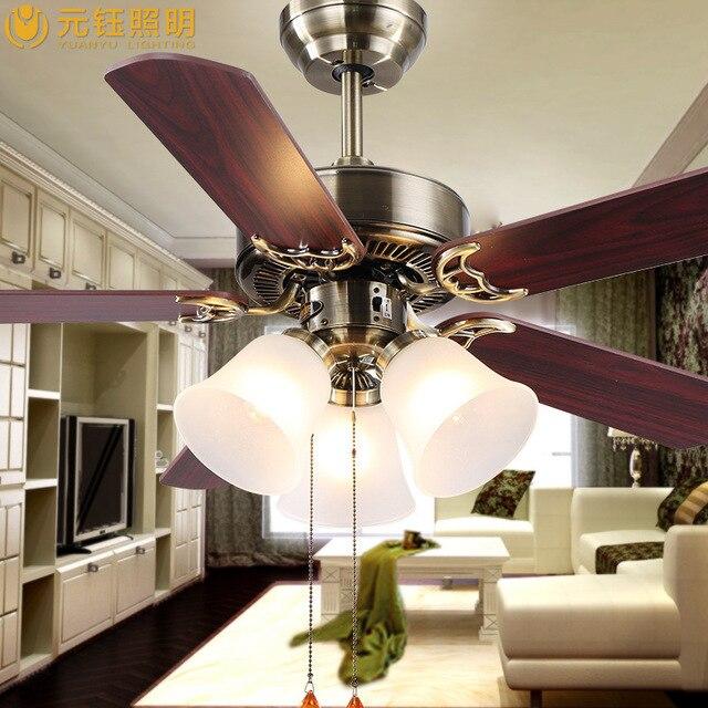Us 8986 European Fan Lights Living Room Lamp Bedroom Ceiling Fan With Light Household Restaurant Hot New Ceiling Lamp Factory Warranty Di Kipas