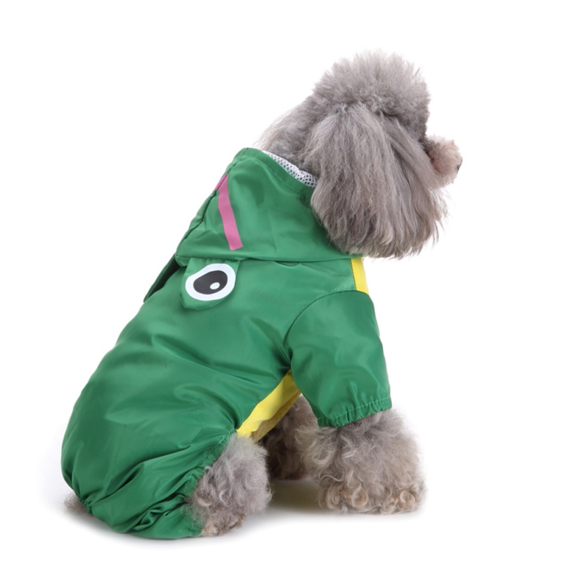 Pet Dog Raincoat Double Base Waterproof Windproof Jackets Outdoor Outwear Clothes For Dogs