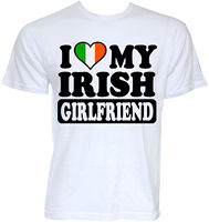 MENS FUNNY COOL NOVELTY IRISH GIRLFRIEND IRELAND JOKE FLAG T SHIRTS RUDE GIFTS Funny Clothing Casual