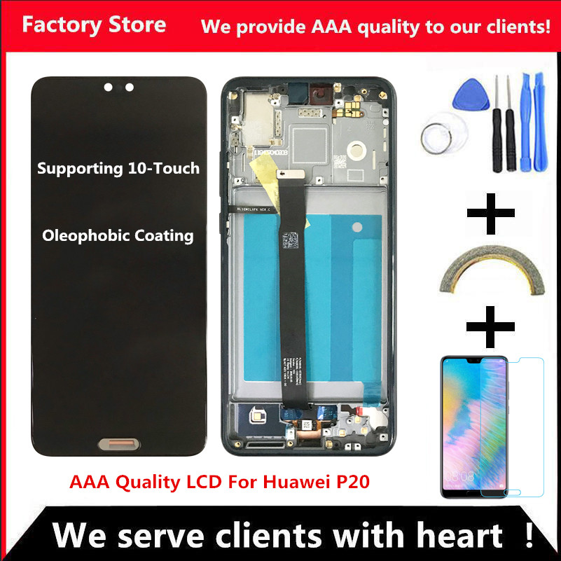 10 Touch Original Screen With Frame For HUAWEI P20 Lcd Display Screen For HUAWEI P20 Screen LCD Display EML AL00 EML AL01 L03-in Mobile Phone LCD Screens from Cellphones & Telecommunications    1