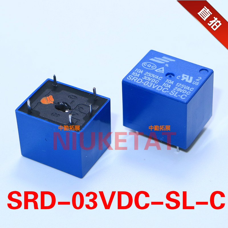 5pcs SRD-03VDC-SL-C 3VDC 10A 250 VAC Power relay PCB Type T73-5V 5 feet SRD-3VDC-SL-C 3V 250VAC New and original Free shipping relays srd 12vdc sl c pcb type 12v dc songle power relay