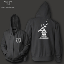 ゲームの魂ファミリーbaratheon oursは怒り男性ユニセックスジップアップパーカーフード重いフード付きsweatershirt綿付きフリースの内側