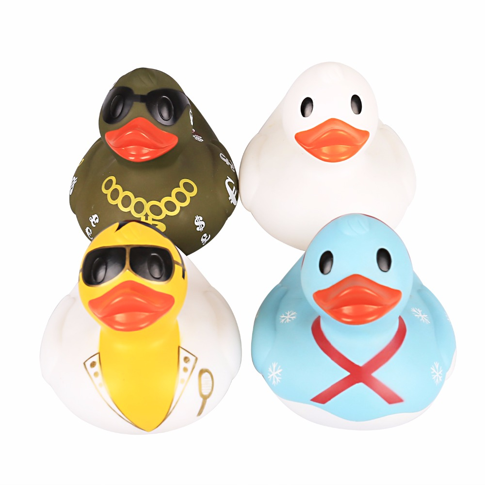 Big Bath Toys Squeaky Ducky Baby Cute Rubber Ducks floating  duck fancytrader new style giant plush stuffed kids toys lovely rubber duck 39 100cm yellow rubber duck free shipping ft90122