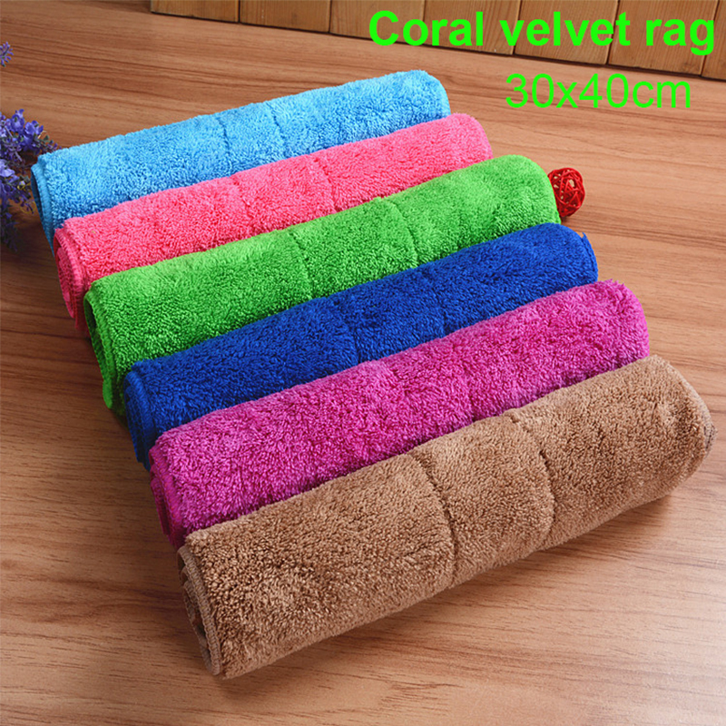 High absorbent Anti-grease Dish Cloth Microfiber Washing Towel Magic Kitchen Cleaning Wiping Rags double layer 30*40 micro fiber