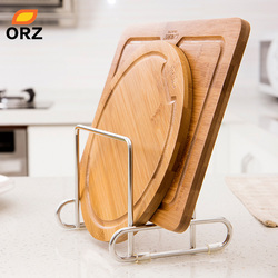 ORZ Cutting Board Holder Knife Block Tools Organizer Kitchen Storage Rack Stainless Steel Dish Rack Cutting Boards Stand