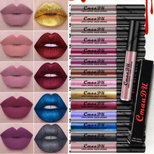 Hot Sell Cmaadu Waterproof Metallic Pigment Hills Matte Lipstick Lip Gloss Glitter Makeup Cosmetics Matte Liquid Lipstick