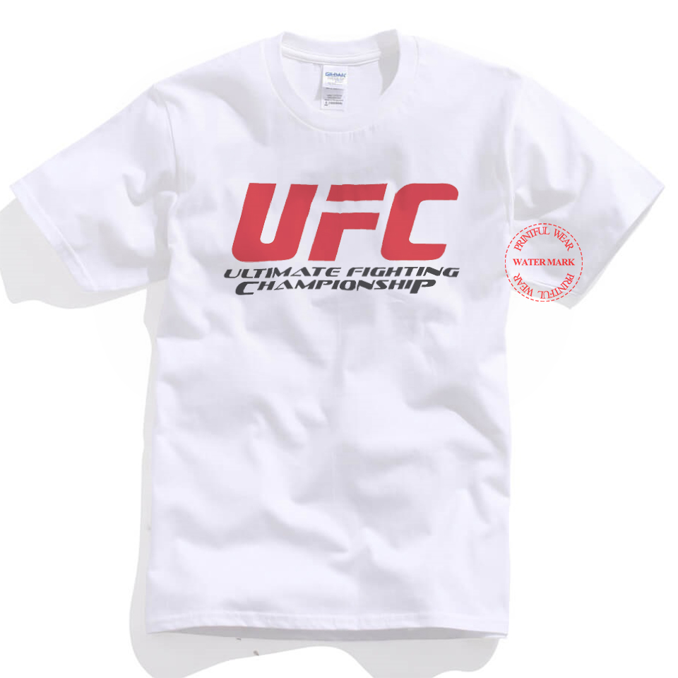 Mens Personalized T Shirt Fashion Summer Ufc Mma Letter Print T
