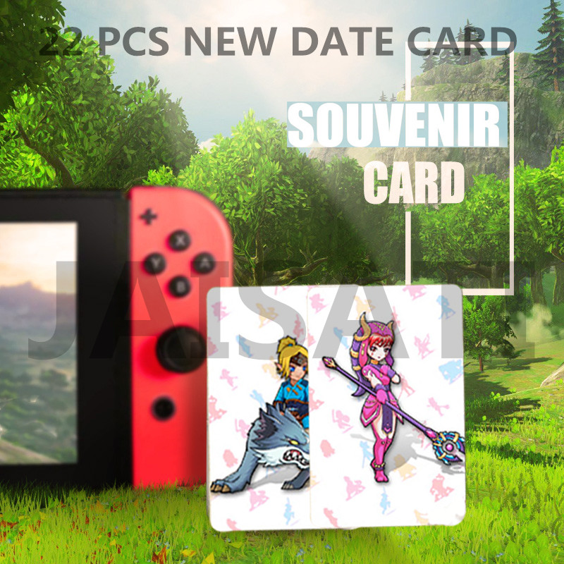 Newest 22 pcs NTAG215 Zelda NFC Card 20 Heart Wolf Revali Mipha Daruk Urbosa For Game the Legend of Breath of the wild NS Switch cd stevie nicks the wild heart