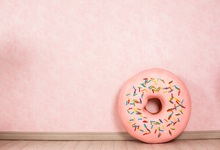 Laeacco Donuts Dessert Pink Wall Baby Children Portrait Photography Background Seamless Vinyl Photographic Studio Photo Backdrop seamless vinyl photography backdrop love story wall empty room computer printed children backgrounds for photo studio cm 1665