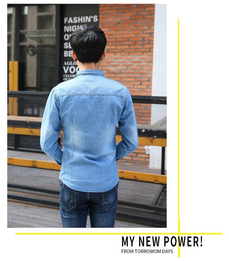 Großhandel HO 2019 Herren Jeanshemd Kultivieren Sie Ihre Eigene Moralität Persönlichkeit Trend Revers Denim Hemd Joker Cowboy Von Runlione, $35.91 Auf