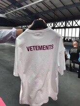 2018 F / W Vasaros DARBUOTOJŲ VETIMAS Haute Couture violetinė Letter Mezgimas vyrų trumpas rankovių marškinėliai Hiphop Fashion Casual Cotton Tee