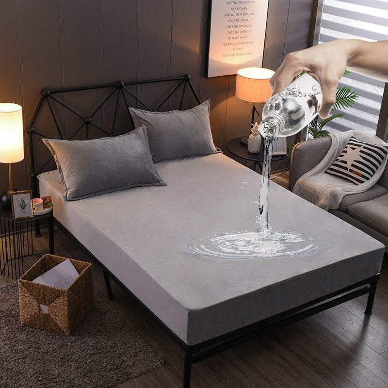 Waterproof Bed Cover Velvet Mattress Protector Bed Bug
