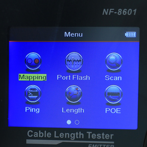 Image 3 - NF 8601 Многофункциональный тестер длины сетевого кабеля, тестер кабелей с ЖК дисплеем, тестер точки прерывания для RJ45, RJ11, BNC, PING/POE с CE