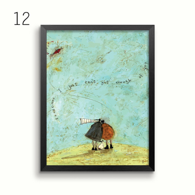 HTB16yN5BsyYBuNkSnfoq6AWgVXae Gohipang Happy Family Abstract Love Canvas Painting Vintage Posters Prints Scandinavian Nordic Wall Art Picture For Bedroom Home