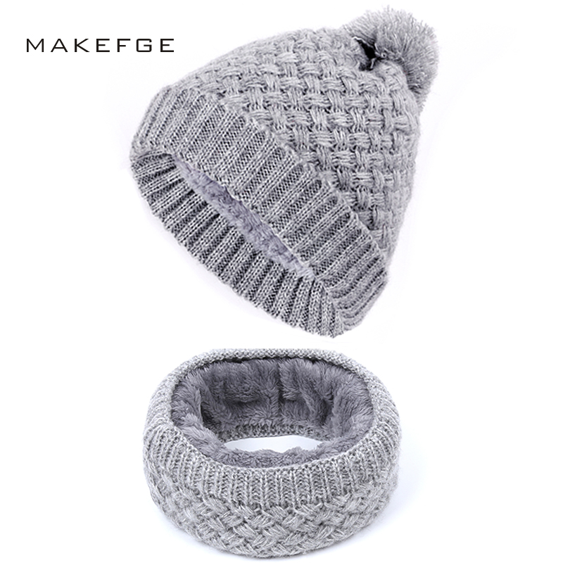 Autumn And Winter Women's Knitted Cotton Hats Warm And Comfortable Men's Women's Universal Plus Velvet Thick Ski Mask Caps Bib