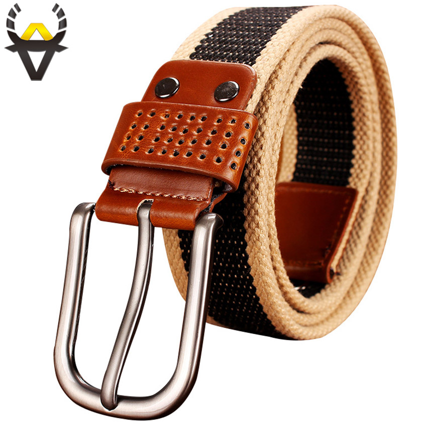 Army Tactical Canvas   Belts   for men High quality Military Strap male for Jeans Fashion Pin Buckle Wide Waistband Durable to wear