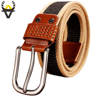 2015 New Fashion Canvas PIN Buckle Belts Men Top Quality Military Strap Army Tactical Belt Man