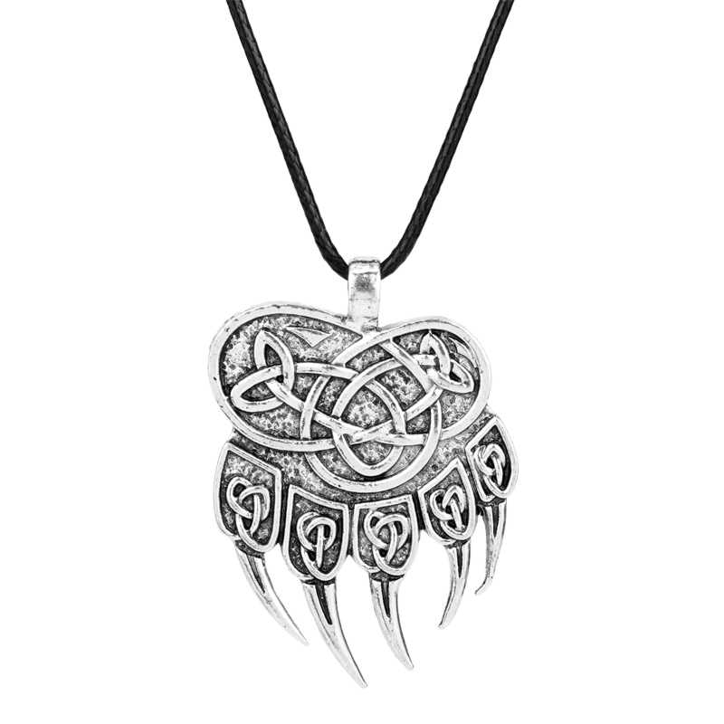 Dawapara Slav Impress of Veles Pendant Bear Paw Necklace Huge Warding Veles Pendant Talisman Amulet Viking Jewelry -30