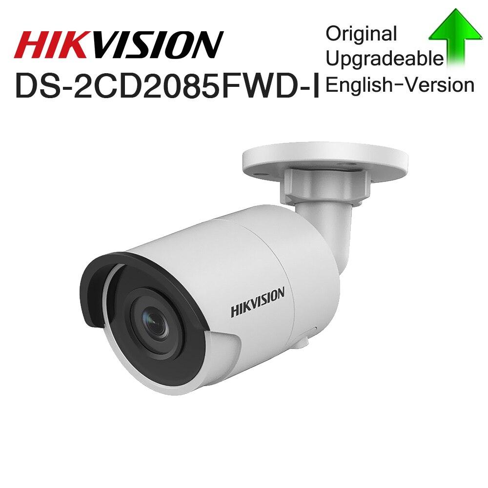 Hikvision Original DS-2CD2085FWD-I 8MP Fixo IR Bala Câmera IP POE CCTV Rede câmera de segurança cúpula IP67 IR30 3D DNR