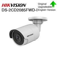 Hikvision Original DS 2CD2085FWD I 8 MP IR Fixed Bullet Network Camera POE CCTV dome security camera P67 IR30 SD Card Slot