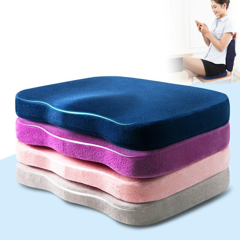 R 12264 Espuma Da Memória Almofada Do Sofá Cadeira De Escritório Decorativo Pufe Assento Ortopédico Cóccix Coxim Traseiro Travesseiro Massagem