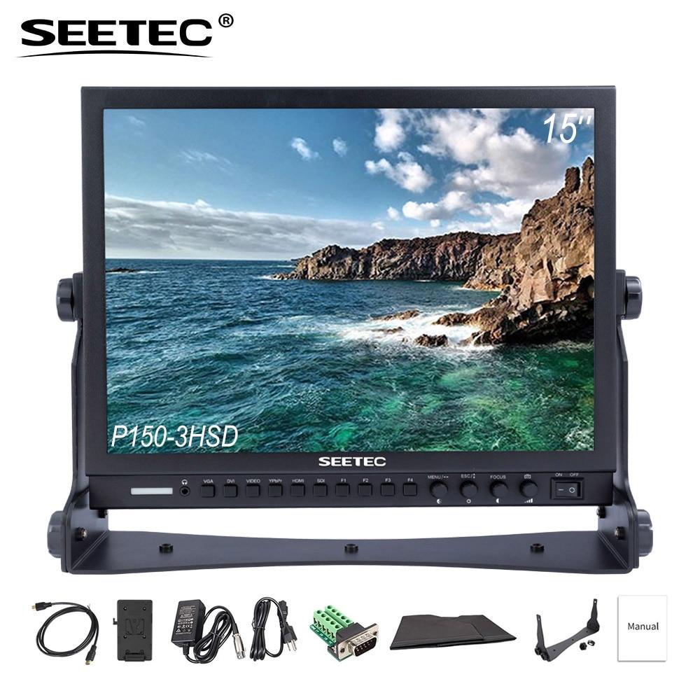 купить Seetec P150-3HSD 15'' SDI Broadcast Monitor HD 1024x768 LCD Screen Film Camera Field Professional with 3G SDI HDMI AV YPbPr DVI по цене 25140.57 рублей