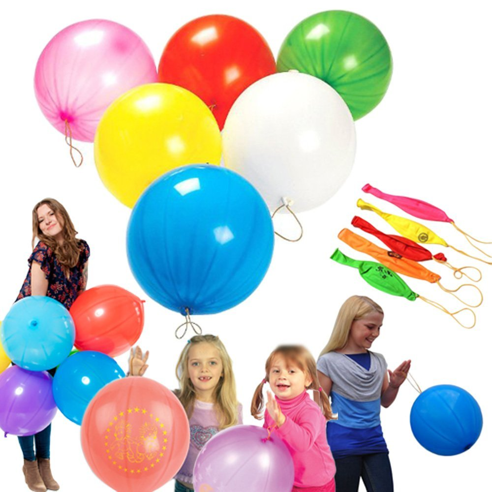 NASTASIA Fun-Filled Balloons Neon Punch Balls with Rubber Band Handle(50 Piece <font><b>18</b></font>