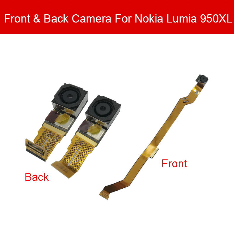 Back Camera Module For Nokia Lumia 950 XL 950XL Rear Front Facing Camera Flex Ribbon Cable Replacement Repair Good Tested image