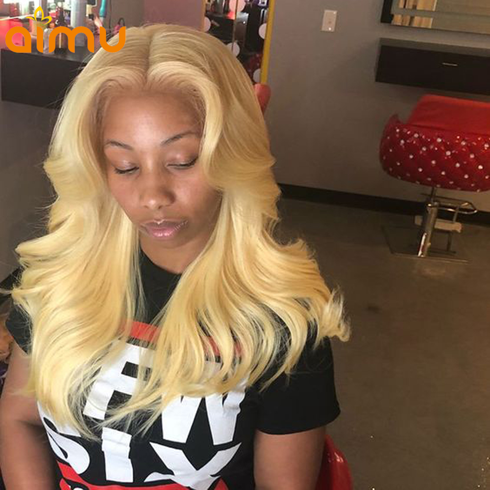 Kind-Hearted Yvonne Straight Blonde Human Hair Wigs Brazilian Remy Hair Lace Front 613 Wig Hair Extensions & Wigs