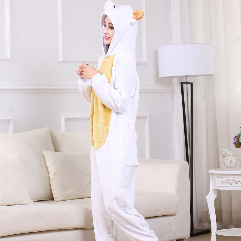Cute Sheep Kigurumi Animal Onesies For Adult Men Winter One-Piece Pajamas Halloween Party Jumpsuit Soft Flannel Cosplay Costume (5)