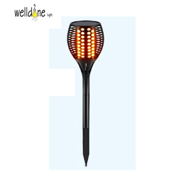 LED torch flame solar energy lawn lamp black color ABS light for garden outdoor lighting fixture water-proof