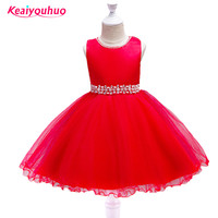 2017 Baby Girl Party Dress Children Clothing Formal Evening Prom Dress Princess Dresses Kids Clothes For