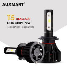 AUXMART Auto Led H1 H3 9005 9006 H7 LED Headlight Car Lights 72W 6500K H8 led