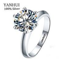Real 100% White Gold Ring 18KRGP Stamp Rings Set 3 Carat CZ Diamant Wedding Rings For Women RING SIZE 5 6 7 8 9 10 11 YHR168