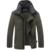 AFS JEEP hombres chaqueta de algodón acolchado chaqueta de algodón acolchado de mediana edad hombres de la manera de los hombres ocasionales cómodos de algodón acolchado 180