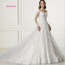 LEIYINXIANG Wedding Dress Bride Dress Ball Gown Full