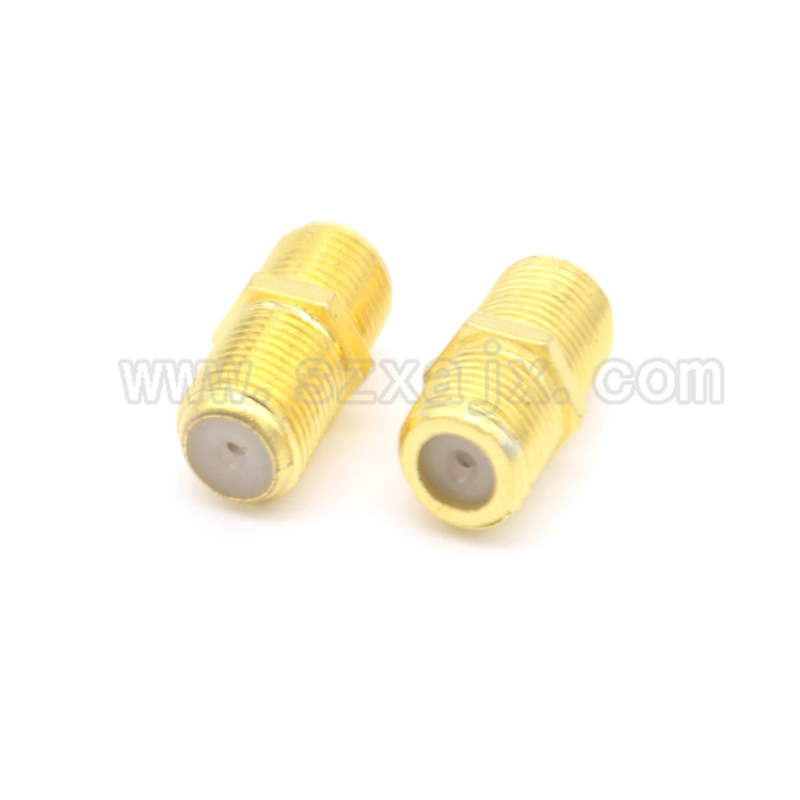 10Pcs F Type UHF Coupler Adapter Gold plated Connector F Female Jack RG6 Coax Coaxial Cable free shipping etsoon 20pcs compression f connector coaxial f type connector adapter for antenna