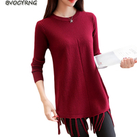 2018 New Spring Autumn Sweater Big Yards Loose Pullover Female Coat Long Sleeve Knitted Wool Women